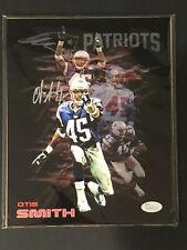 New England Patriots, Otis Smith signed 8x10 (3) w/JSA