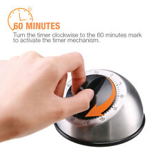 1Hr/60Min Mechanical Timer Game Count Down Counter Alarm Kitchen Cooking Tool