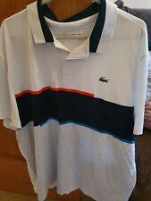 Mens White Lacoste Sport Polo Shirt Size XXL 7