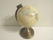 """Vintage 8"""" Desk/ Tabletop World Globe with Metal Base"""