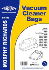 5 x MORPHY RICHARDS Vacuum Cleaner Bags 70044, 70047, 70050, 70314, 70315, 70318