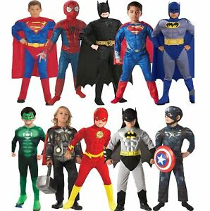 Kids boys Spiderman Ironman Thor Hulk Cosplay Costume Fancy Halloween 3-10 years