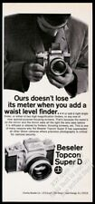 1969 Beseler Topcon Super D camera photo vintage print ad