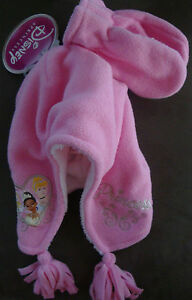 TODDLER  2PC PINK DISNEY PRINCESS HAT & MITTEN SET  SIZE (ONE SIZE FITS ALL) NWT