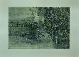 GIUSEPPE AJMONE litografia PAESAGGIO 70x50 firmata numerata  rif 020