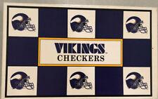 Team NFL Checkers Game - Minnesota Vikings versus Packers - 1993 - Mini Helmets