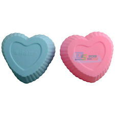 10X 7cm Heart Soft Silicone Chocolate Muffin Paste Baking Mould Clay Cake Decor