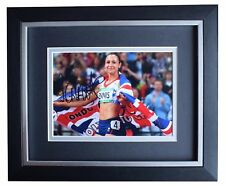 Jessica Ennis SIGNED 10x8 FRAMED Photo Autograph Display Olympic Athletics COA