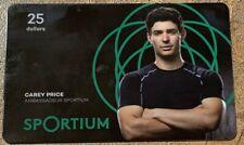 Sportium Gift Card rechargeable carey Price zero balance collectible