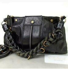 Chloe heloise Handbag Braided Strap Black * Authentic* Shoulder Bag Small