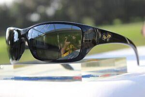 "Maui Jim ""CANOES"" 208-02 Gloss Black Frames / Grey Lenses {WRAPS R WORTH A LOOK}"