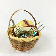 Dollhouse Miniatures Gardening Basket Handmade 1:12th