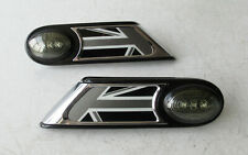 Genuine MINI Union Jack Pair of Indicator Trims with LED Repeaters - R55 R56 R57