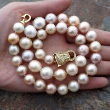 10mm-12mm Multi Color edison reborn Keshi Pearl Necklace