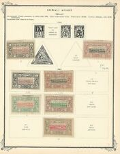 Somali Coast Collection 1894 to 1927 on 5 Scott Specialty Pages, French