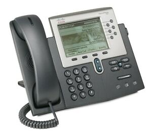 Cisco IP Telephone 7962G - Unified VoIP Corded Business Phone w/ Handset & Stand