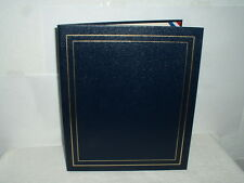 25 Deluxe Craft Award Certificate/Diploma Holder/Folder Leatherette Blue Gold