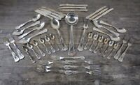 Achille Princet Louis XV Style Forty Three Piece Silver Plated Cutlery Service.