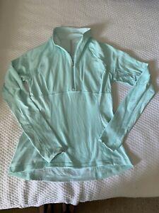 LULULEMON Mint Green 1/4-Zip Pullover Athletic Top Women's Size 12 EUC
