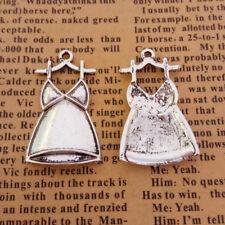 6pcs Charms Dress Tibetan Silver Beads Pendant DIY 18*30mm