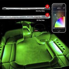 12pc Slim Strip Boat Marine XKchrome App Control Interior LED Accent Light Kit