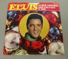 Elvis Presley Blue Christmas Santa Claus is Back in Town RCA 45