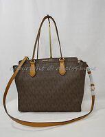 Michael Kors Dee Dee Large Convertible Tote/Shoulder Bag in Signature MK. Brown