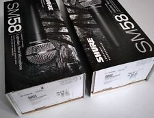 Shure SM58S Cardioid Dynamic Vocal Microphone with On/Off Switch (2 Pack)