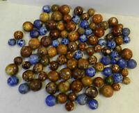 #12139m Vintage Group or Bulk Lot of 100 Old German Handmade Bennington Marbles