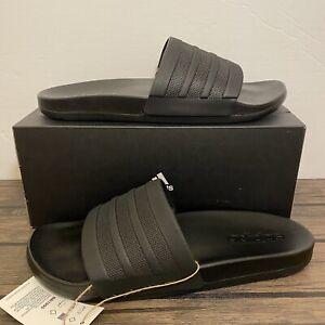 Adidas Adilette Comfort Black Mens Slides Sandals Sz 8, 9, 10 NEW*BB1095