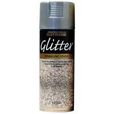 Rust-Oleum Silver Glitter Spray Paint 400ml Aerosol Sparkling Particle Finish