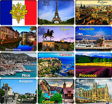 12 souvenir fridge magnets - FRANCE