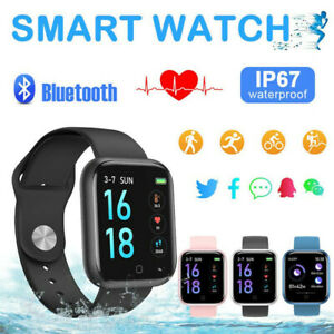 Bluetooth Smart Watch Heart Rate Blood Pressure Body Temperature Monitor Sports