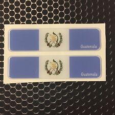 "Guatemala Proud Flag Domed Decal Emblem Car Flexible 3D 4x1"" Set of 2 Sticker"