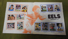 #T90. 1983  PARRAMATTA  EELS RUGBY LEAGUE STICKERS ON ALBUM PAGES