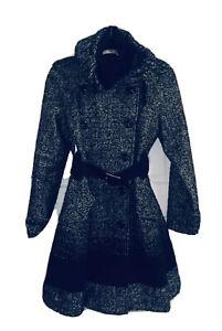 Karen Millen Classic Tweed Coat With Belt / Size 10 / New
