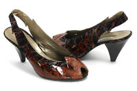 Élégant Vintage Escarpins Chaussures Cuir Escarpin-Sandale Talons Valbrenta