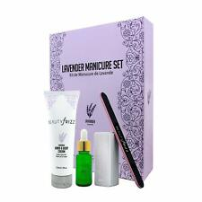 Beautyfrizz Lavender Manicure Set Nail Buffer, Cuticle Oil, Hand and Body Cream