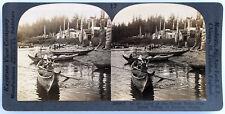 Keystone Stereoview Totem Poles and Indian Village, AK 1920's 50 Card World Set