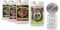 Advanced Nutrients Bloom Grow Micro 500mL & Big Bud 250mL GotHydro Card Pipette