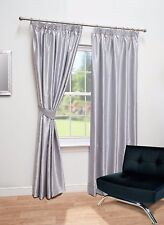 Luxury Faux Silk Fully Lined Curtains - Pencil Pleat - Free Tiebacks