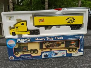 Pepsi Heavy Duty Truck & KENT Tractor w/ Auger Trailer (LOT OF 2) Scale 1:50