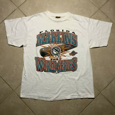 Vintage 1997 Florida Marlins World Series T-Shirt XL VTG Red Oak MLB Miami 90s