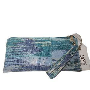 NEW Hobo LIMITED EDITION Vida Wristlet Cracked Glass Blue Clutch Handbag