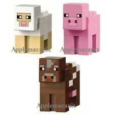 NEW LEGO 21114 21115 Minecraft COW PIG AND SHEEP Animals Mob Minifigures Figure