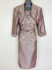 Mascara Size 16 BNWT Antique Rose Pink Mother of Bride Lace Dress & Bolero