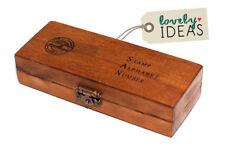 42 Stempel ABC Alphabet Großbuchstaben Set in Holz Box