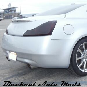 Tail Light Blackout Smoked Vinyl Overlay Precut for Infiniti G37 2008-2013 Coupe