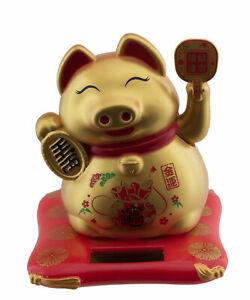 Schwein Der Glück Golden 7 CM Fortune Animierte Solar- Baugleich Cat Maneki Neko