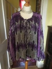 Gorgeous BNWT Ladies Zara Purple Print Chiffon Style Blouse Size One Size £39.99